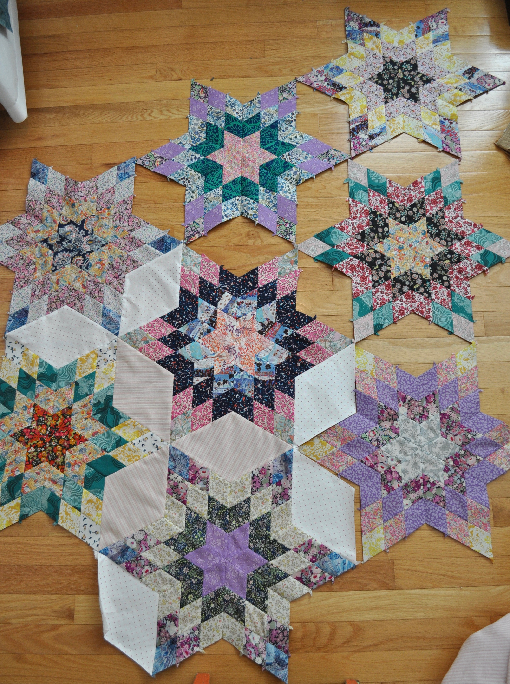 "My own ""Liberty"" Stars, English Paper Piecing"