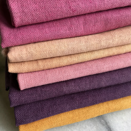 Naturally dyed Linen Pre-Cuts now in the shop!