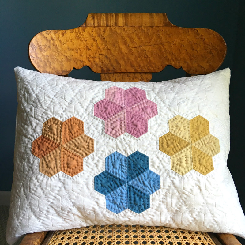 Blooming' Jewels EPP pillow kit, design by Tierney Barden