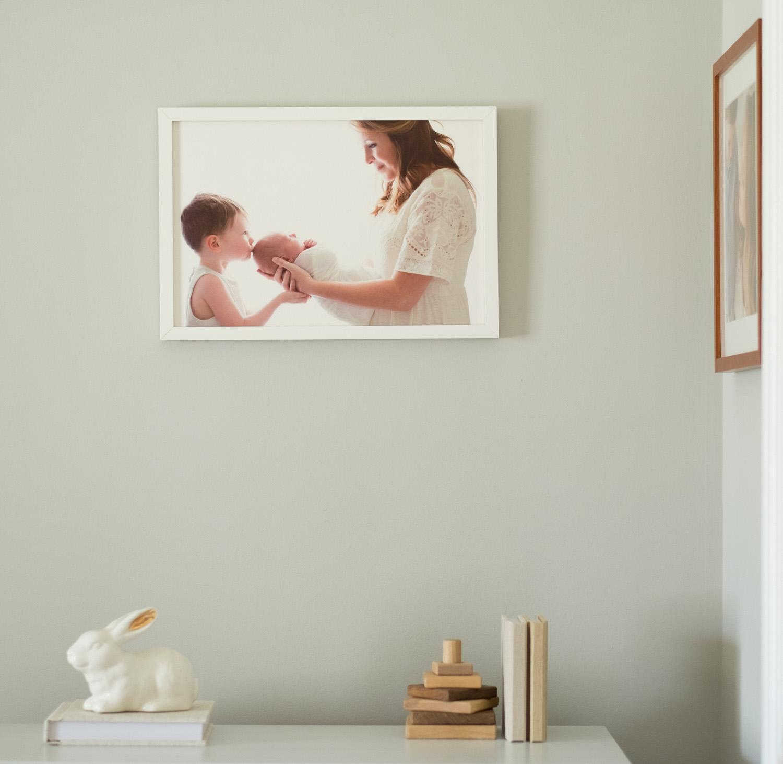 Photographs of Jenny Cruger Photography's prints/studio