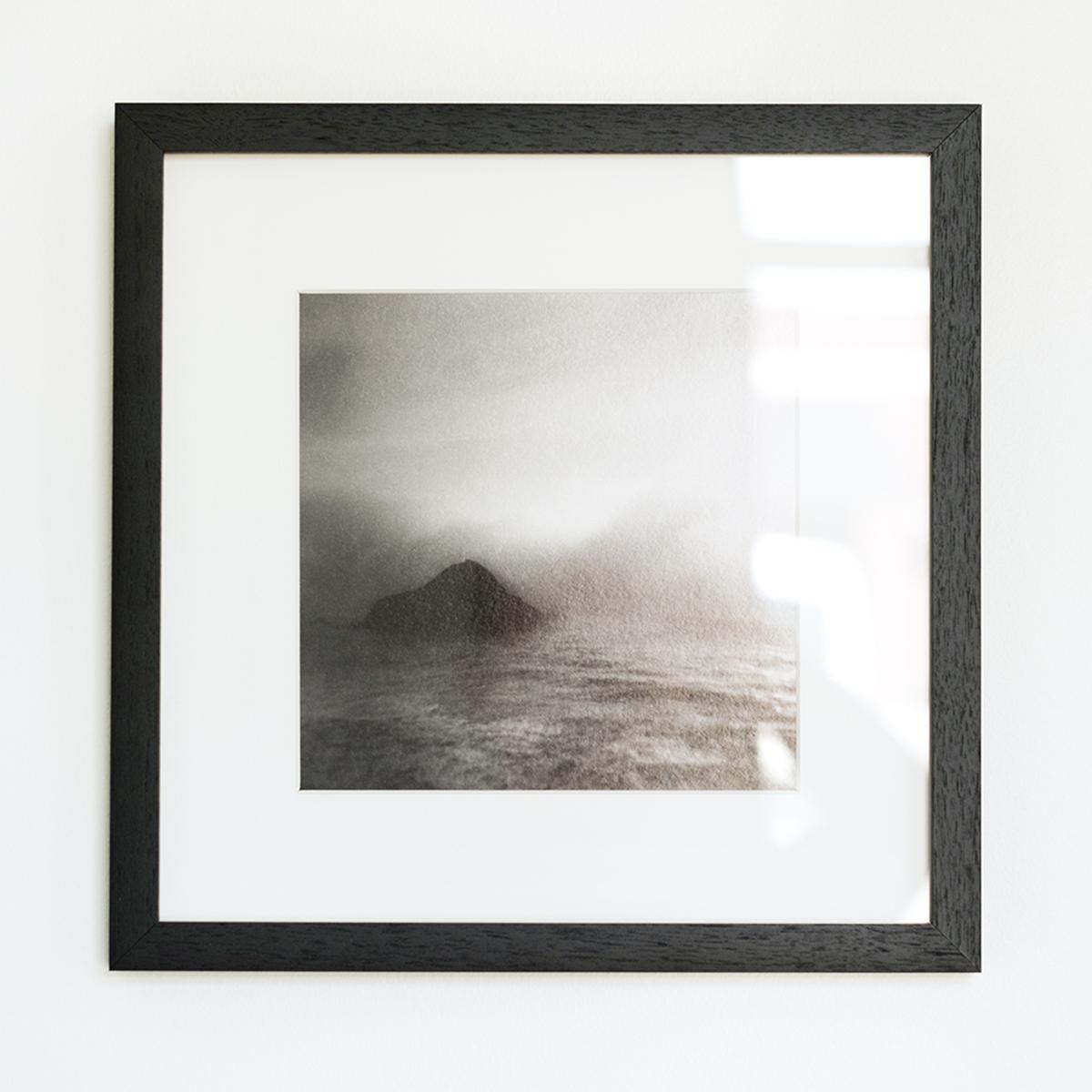 Standard Acrylic shows glare (upper right)