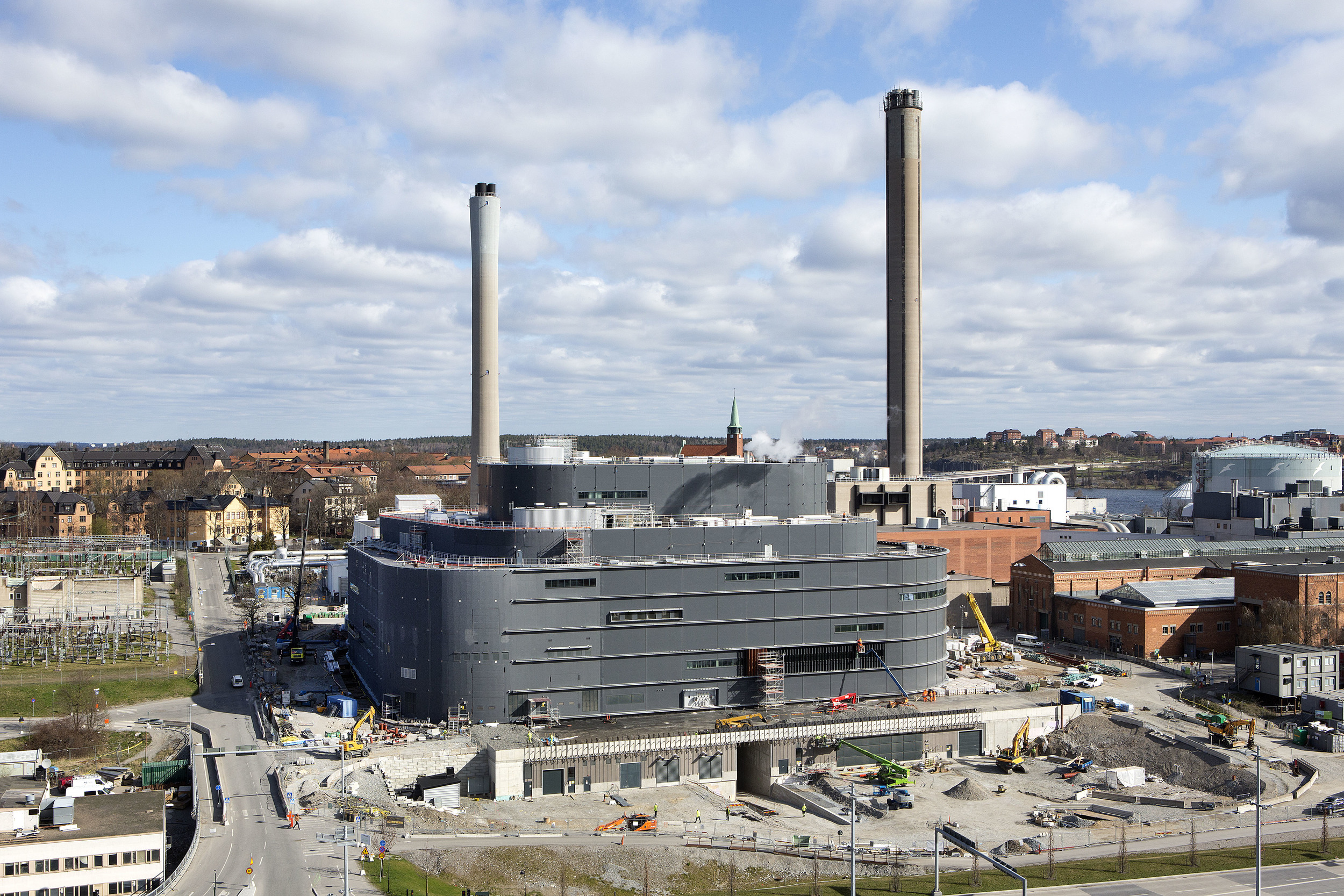 The construction of the plant began in 2013. Photo: Hans Ekestang