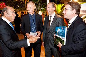 Israel Klabin, Johan Rockström, Mattias Klum and Achim Steiner during book launch in Rio de Janeiro.