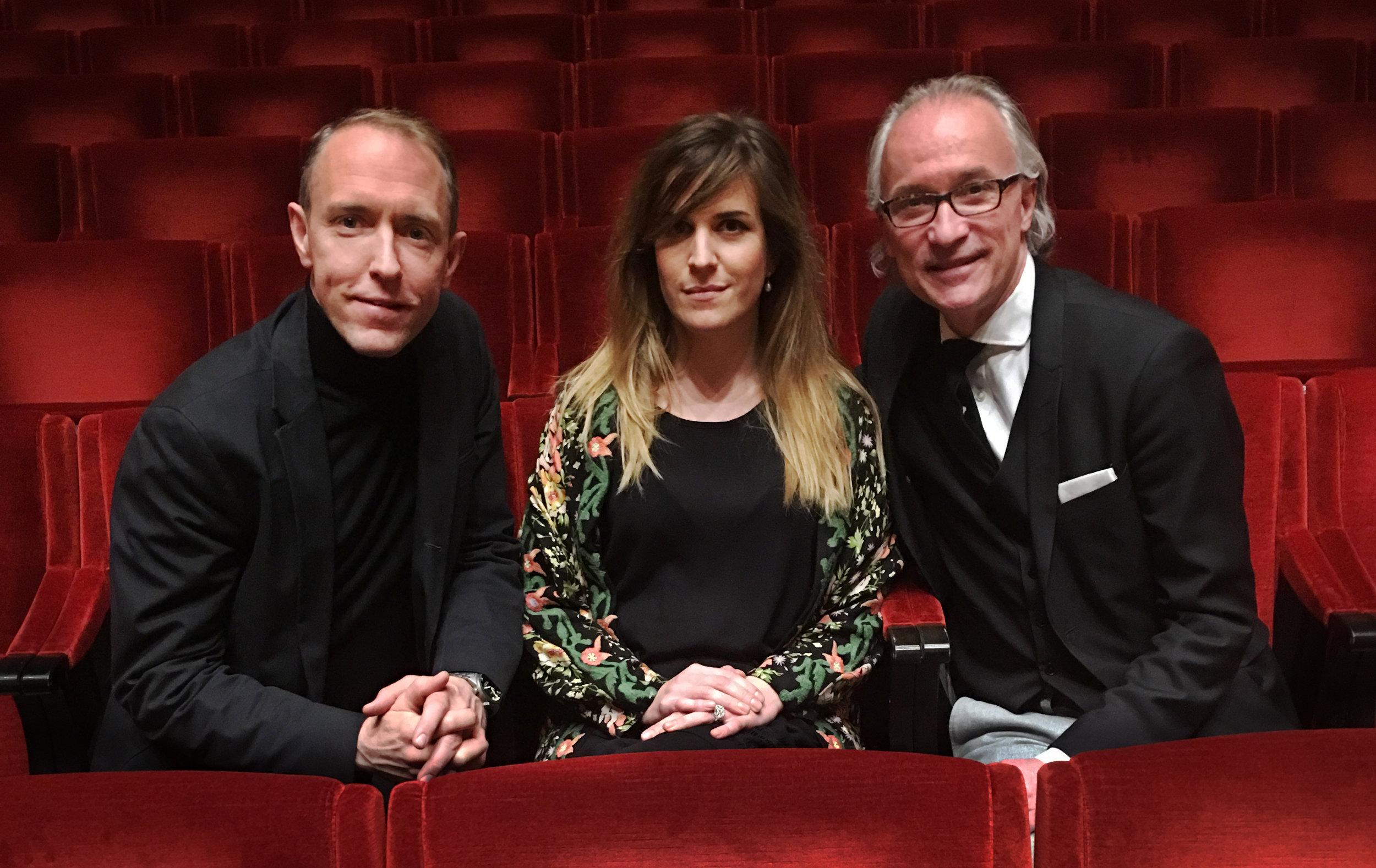 Mattias Klum, Iris Alexandrov and Stefan Forsberg (Konserthuschef).