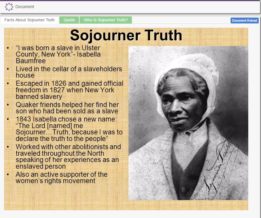 Who is Sojourner Truth?