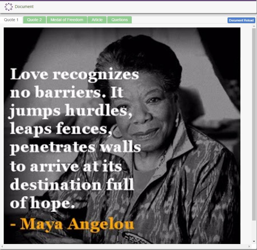 Famous African American: Maya Angelou