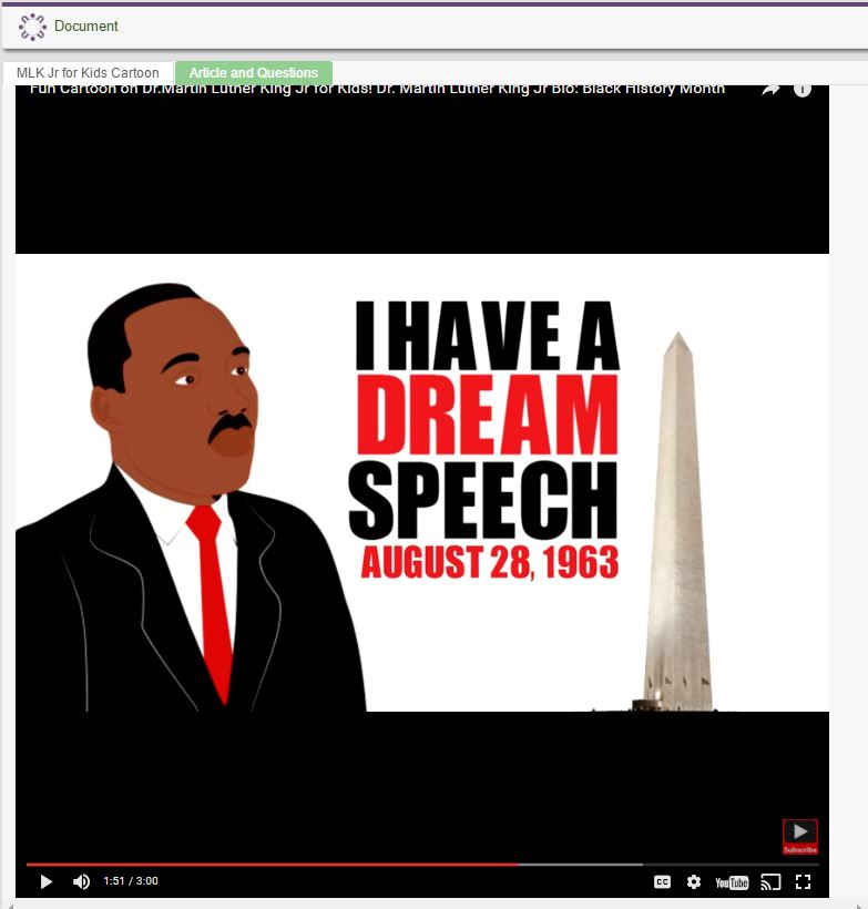 Martin Luther King Jr. (470 Lexile)