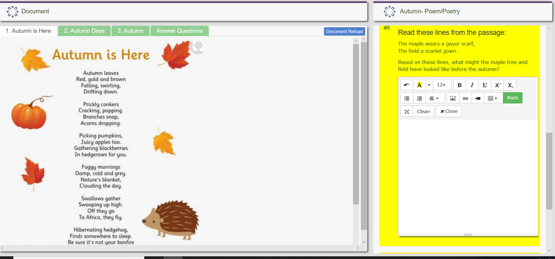 Extended and Constructed response items allow students to increase endurance and fluency answering in the HTML and math editor. Teachers can quickly assign earned points to each item.