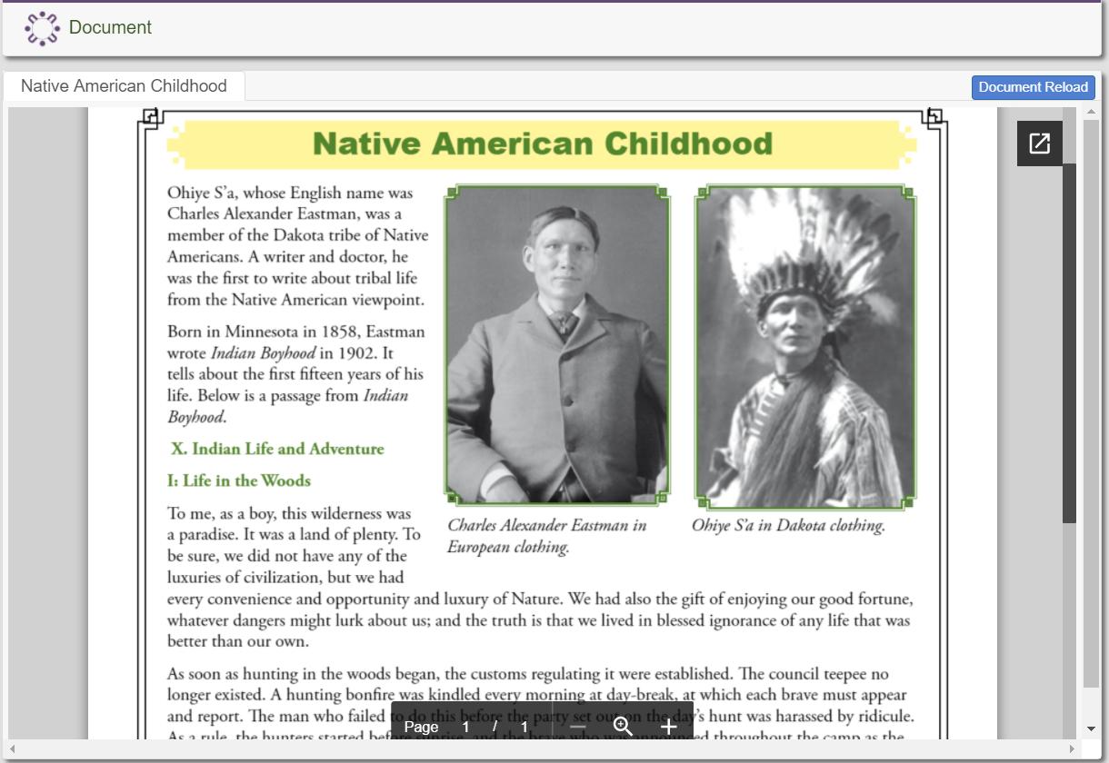 Native American Childhood