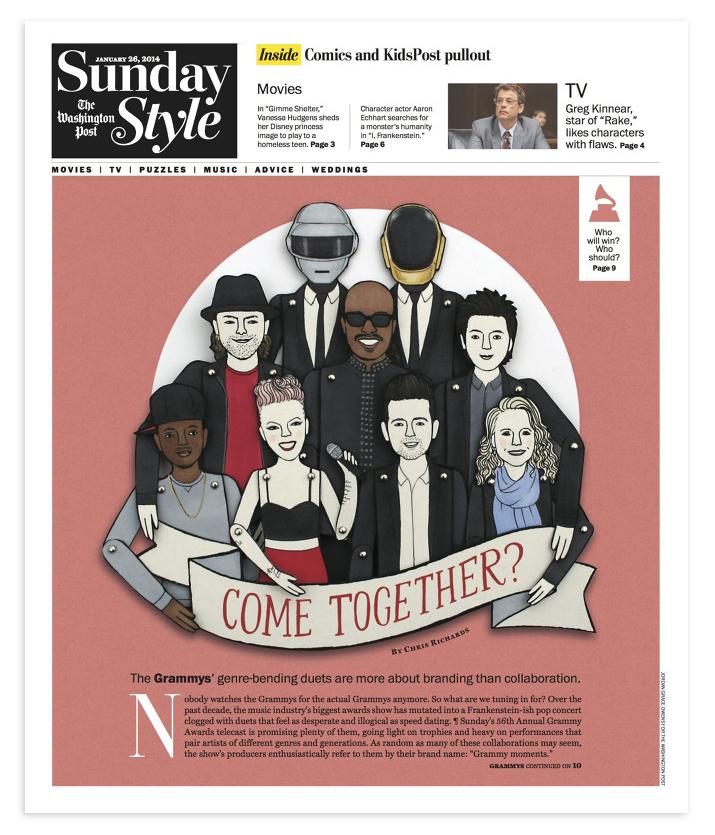 Illustration for  The Washington Post Sunday Style  cover.
