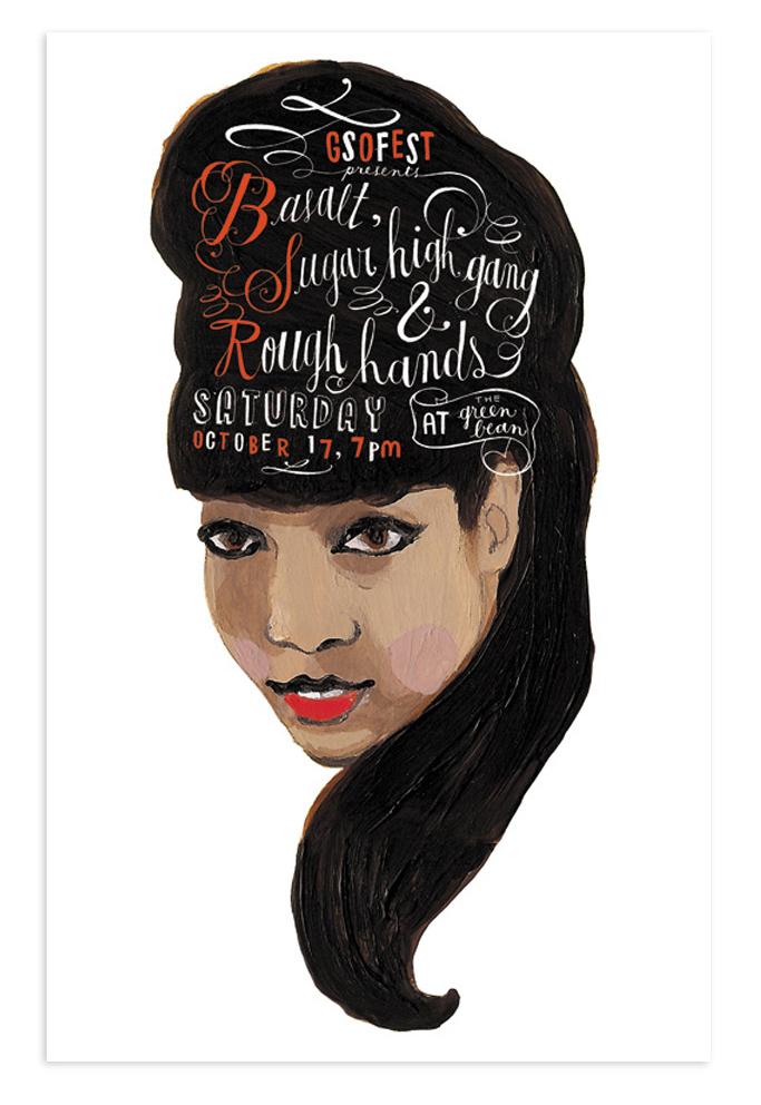 Poster illustration for a show in Greensboro, North Carolina.