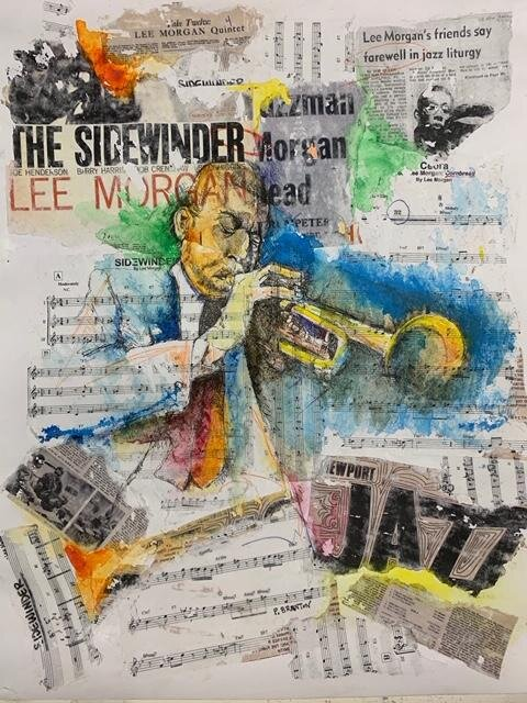 Original work for Dear Jazz exhibit currently at South Side Community Art Center