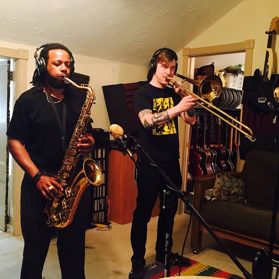 Stefan Forbus and Will Carter recording for Soul Radics.