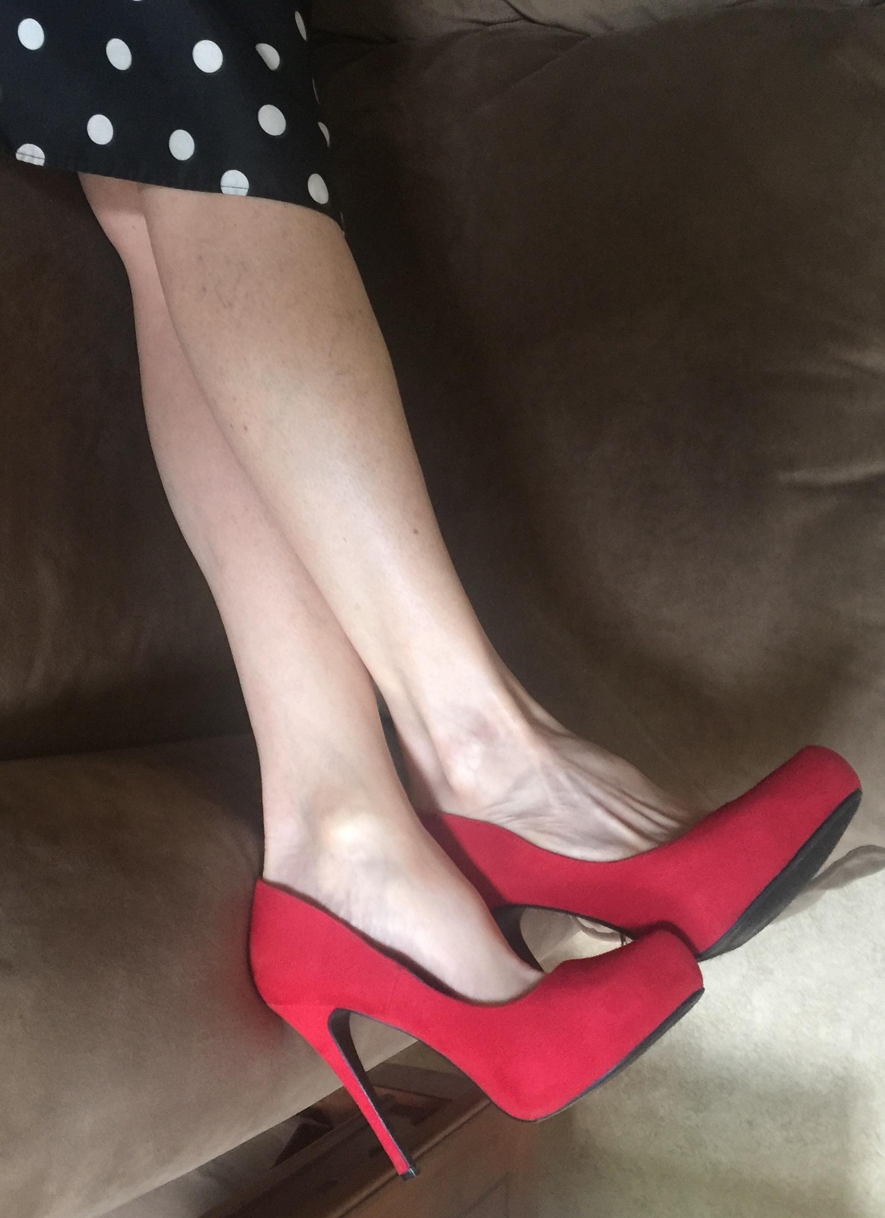 photo 1 - red suede pumps.jpg