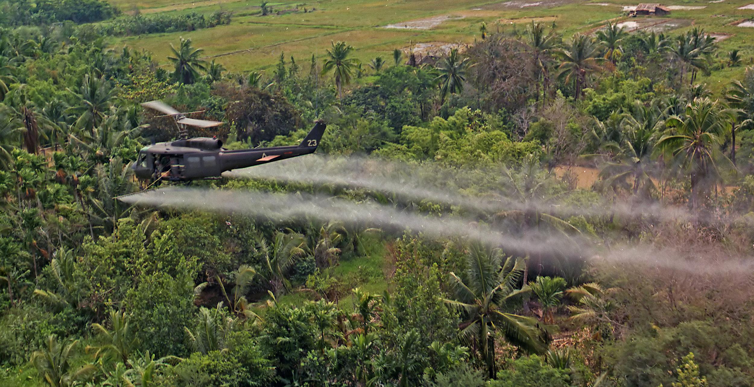 Agent Orange spraying during the Vietnam War