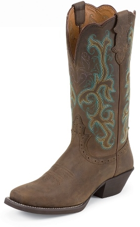 Women's Square Toe Justin Cowboy Boot