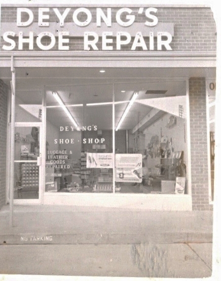 Deyong's Shoe Repair Storefront Newmarket South Shopping Center