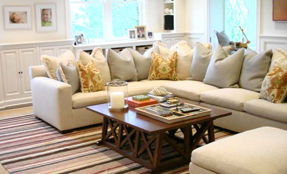 Wallace views each job as a reflection of the homeowners personality and interests.   Photo courtesy of Simon-Wallace Design