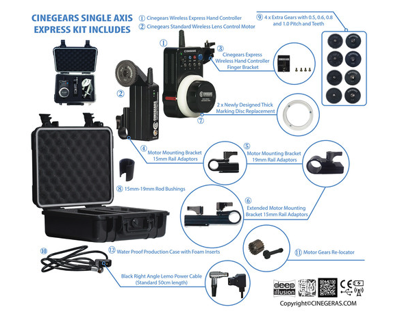 Cinegears Single Axis Express Kit,  $1,989 at B&H .