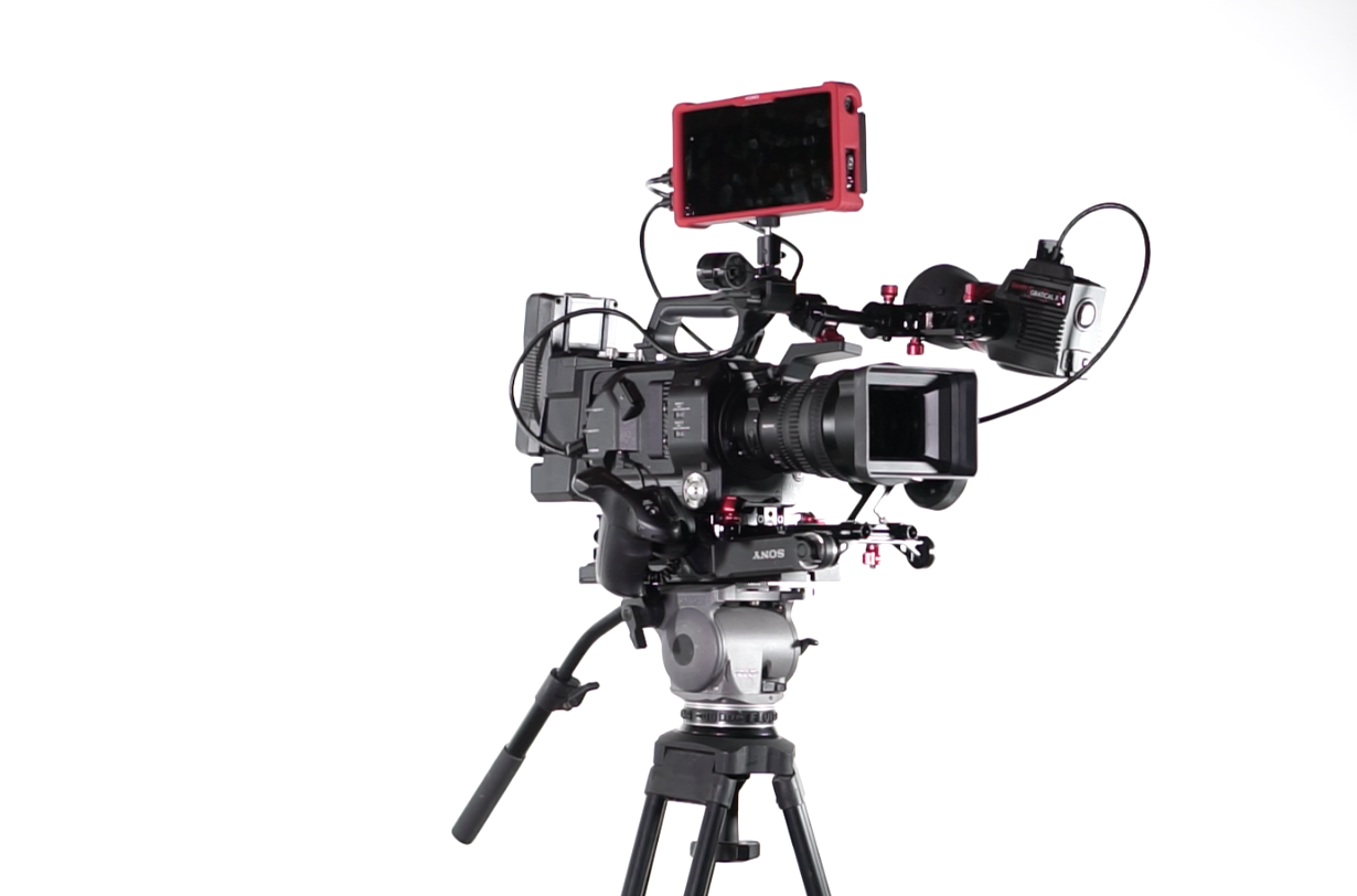 Taken with my Sony a6000, moments before the  FS7  with  FE PZ 28-135 f/4 ,  Zacuto Gratical HD  and  Atomos Ninja Assassin  went crashing to the floor. Amazingly, other than a demolished lens hood, everything worked perfectly. The massive  Zacuto VCT Universal Base Plate  did the business, but I found the upper weight limit on my  Cartoni Focus  the hard way.