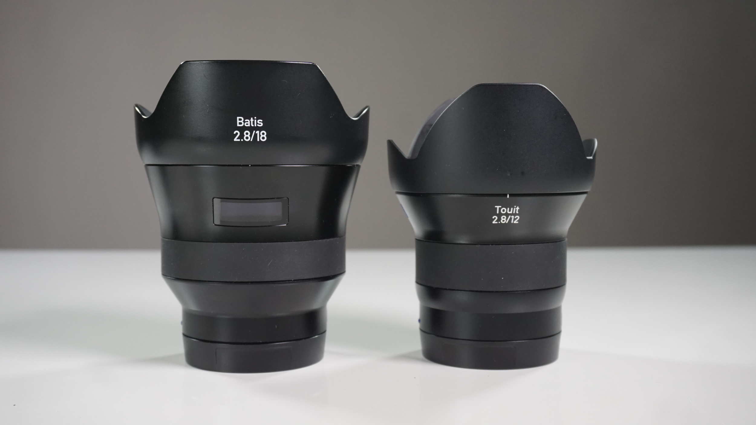 The full-frame Batis 18mm f/2.8 on an a7r II has the same field of view as its little brother Touit 12mm f/2.8 on the a6300. Other than the OLED display and without them being next to each other, it would be tough to tell them apart at first glance.