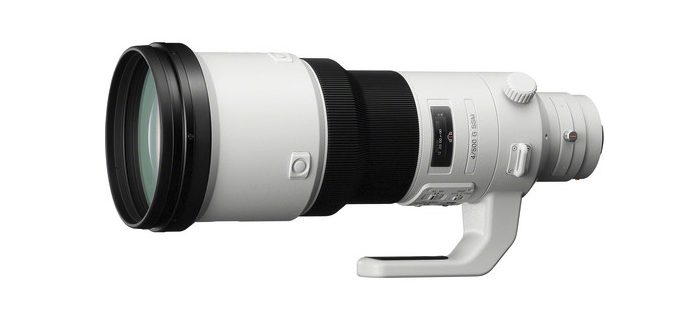 Sony 500mm f/4.0 G: reach, speed and image stabilization in A- (not E-) mount, but it can be used with their  LAEA4 adapter  on E-mount bodies. The adapter's a very reasonable $348. The lens? That'll set you back  just under $13,000 .