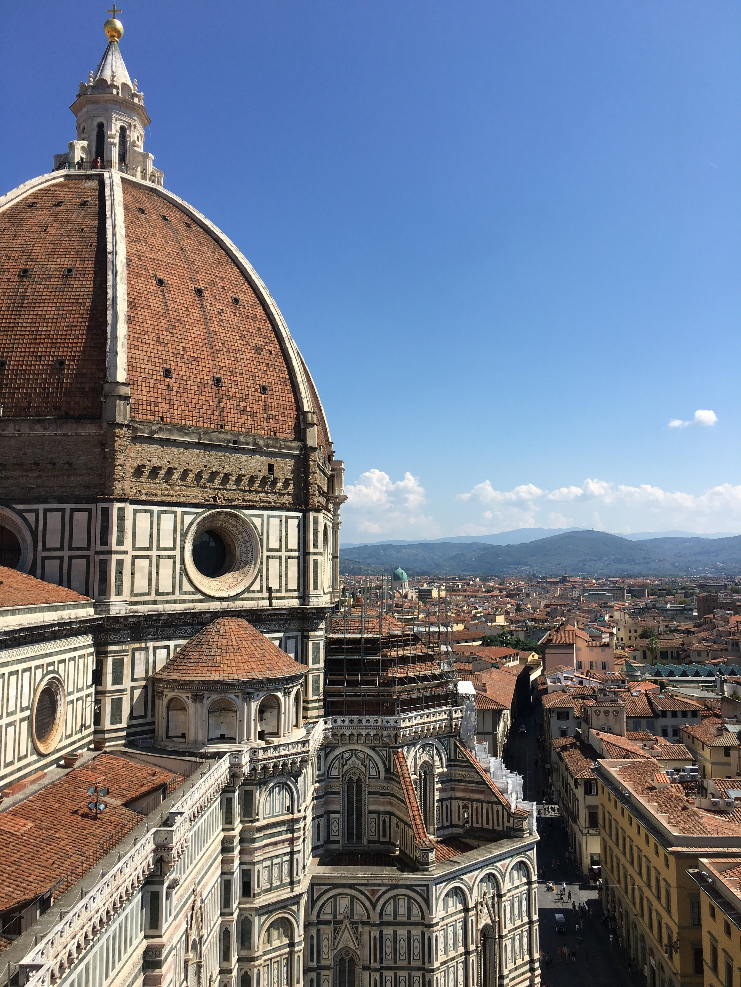 Il Duomo in Florence - taken with an iPhone 6s Plus after climbing several hundred stone steps and fighting back a panic attack inside the Tower. Hand-held, ISO 25, f/2.2, 1/1972