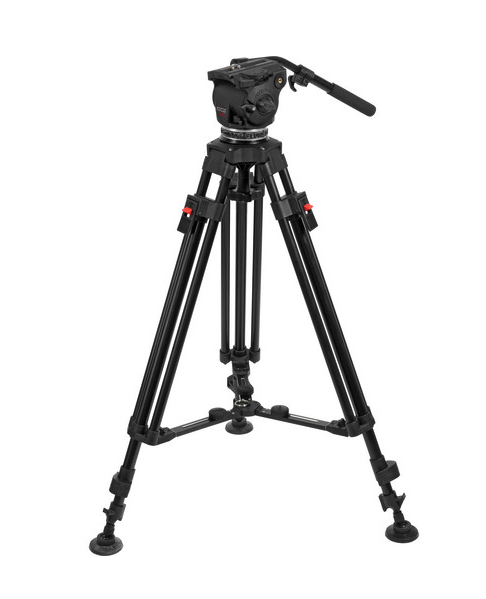 Cartoni Focus HD Fluid Head & Two Stage 3- Tube Aluminum Alloy Tripod,  $1,820 at B&H . It is more rigid, aided by its mid-level spreader; more expensive; and feels heavier than the Reach 1 Plus, but the fluid head controls and quick release plate aren't as nice as on the Secced. I may like the operation of the Secced more (except for the locking mechanism of the legs), but the Cartoni is a better choice for heavier packages at maximum height and load.