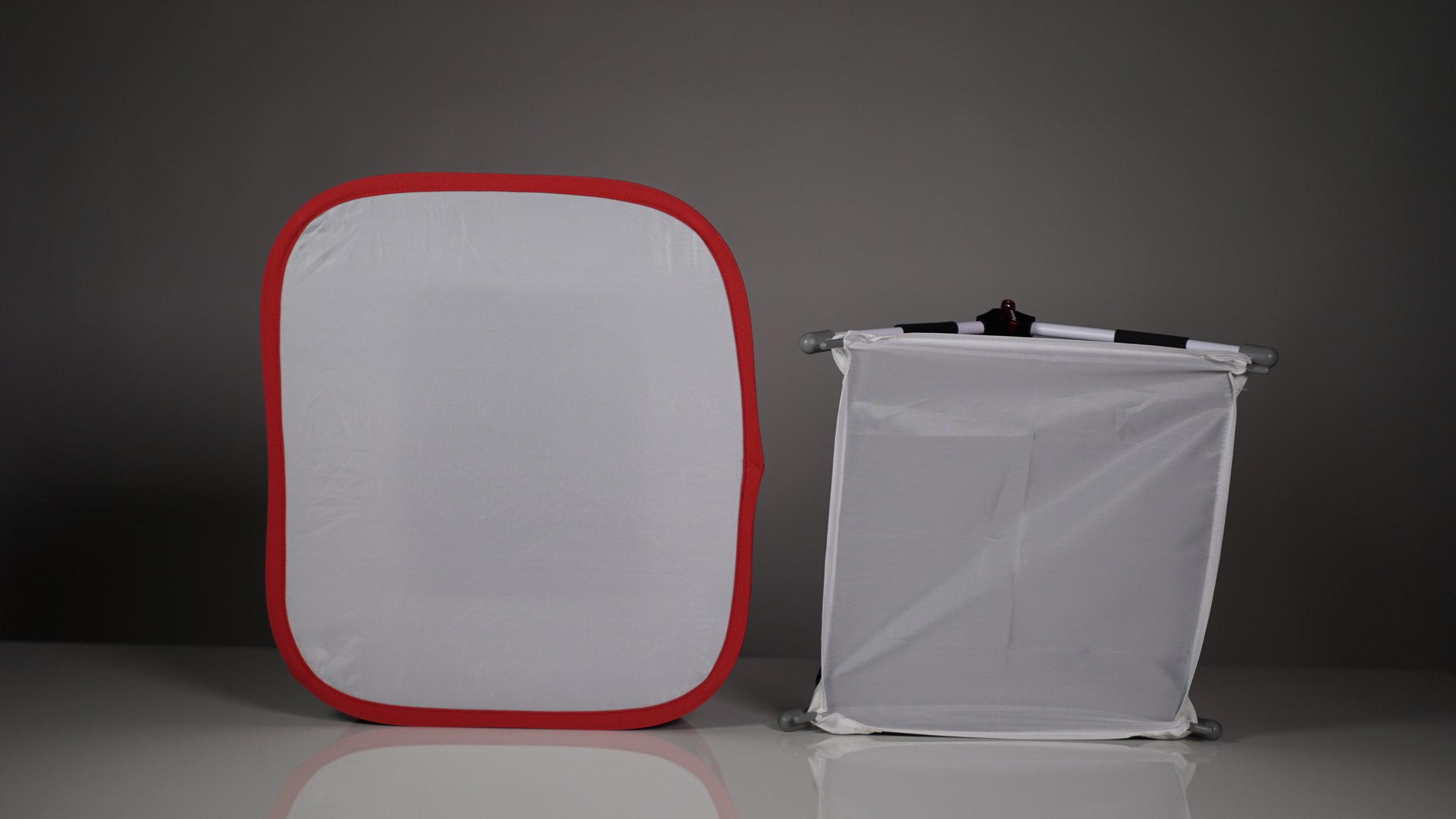 Kamerar D-Fuse on the left, Aputure EZ box on the right.