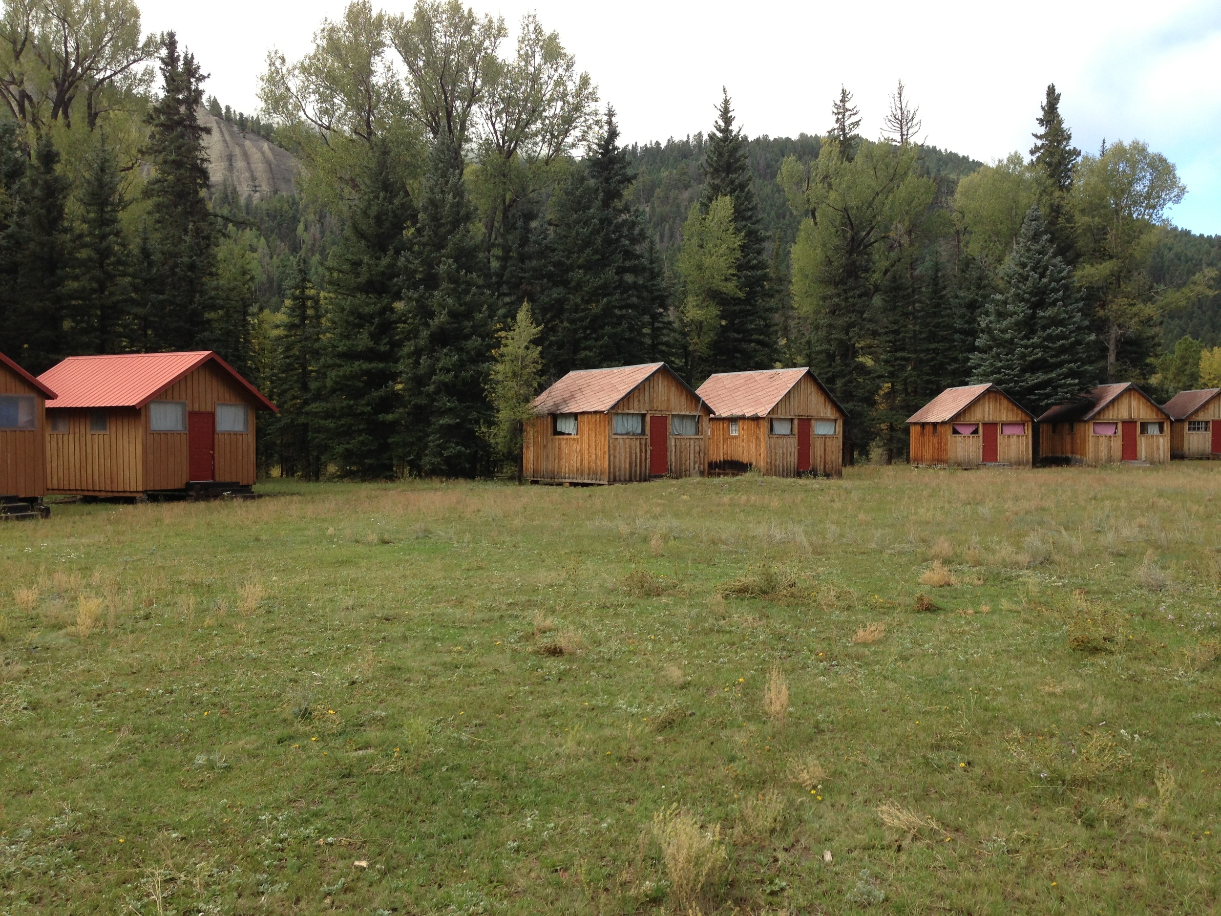 Cabins (1 on left remodeled, on right before remodeling)