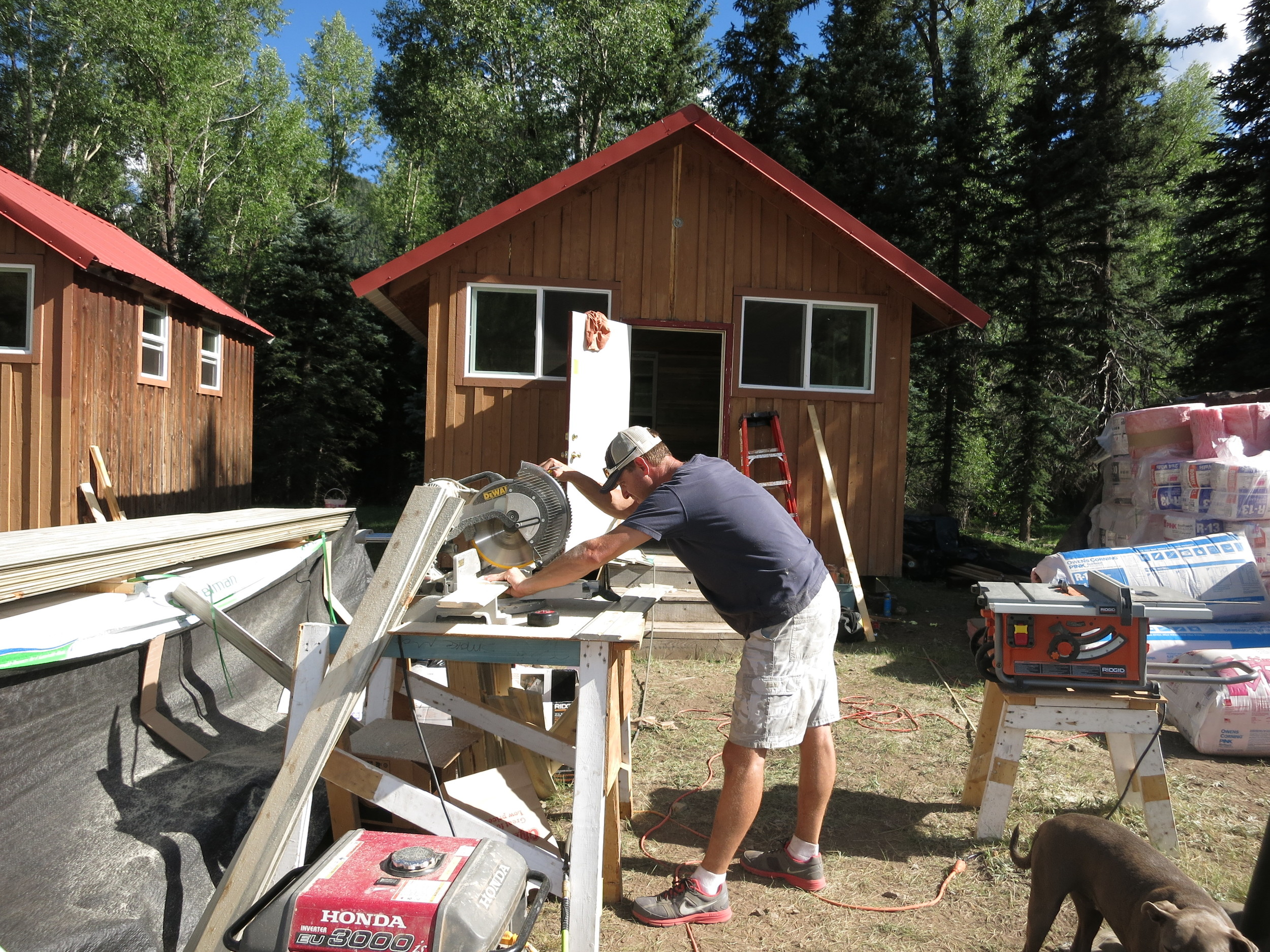 Lots of work is involved in bringing the old cabins back to life