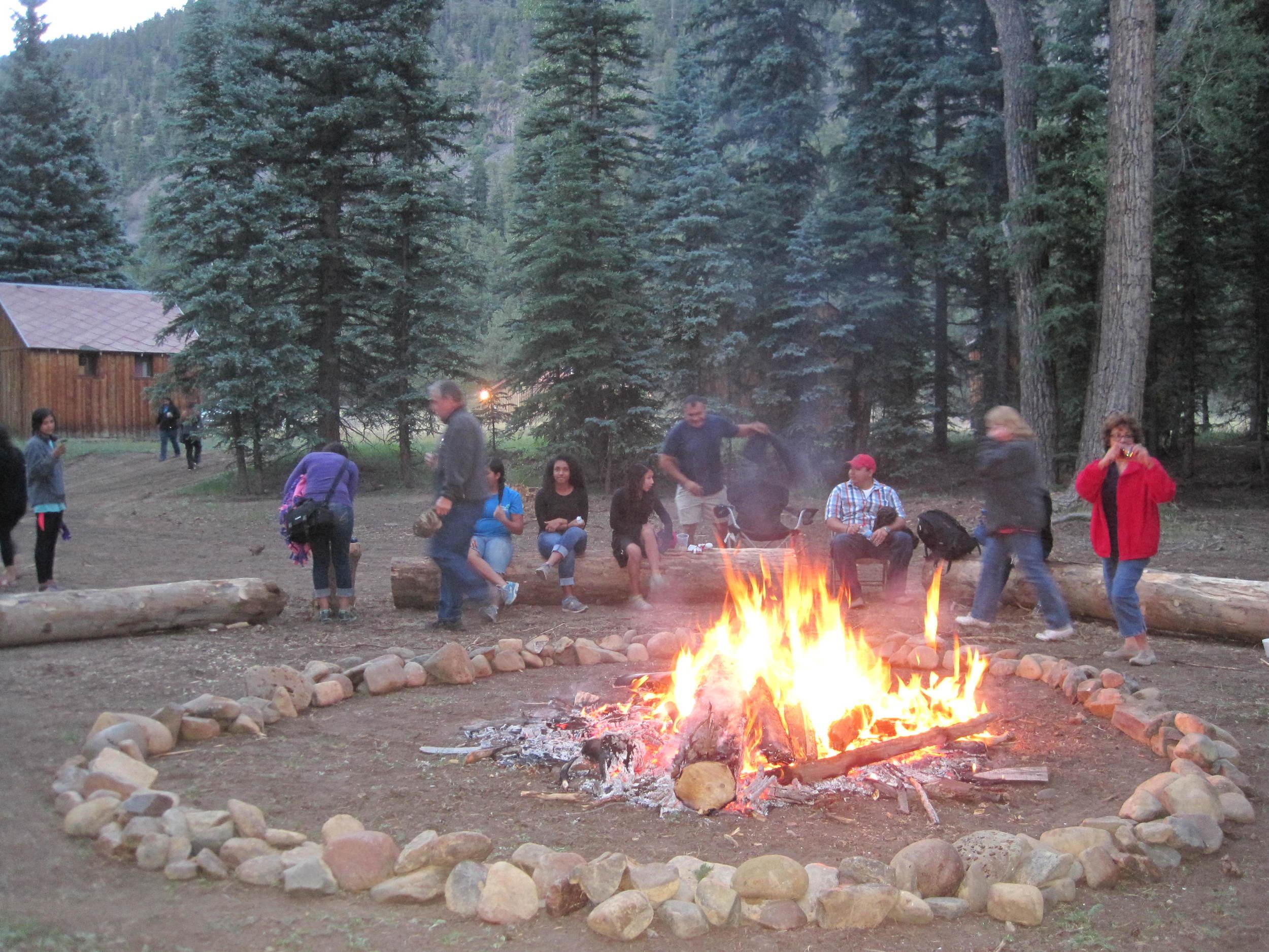 Fellowship around the campfire