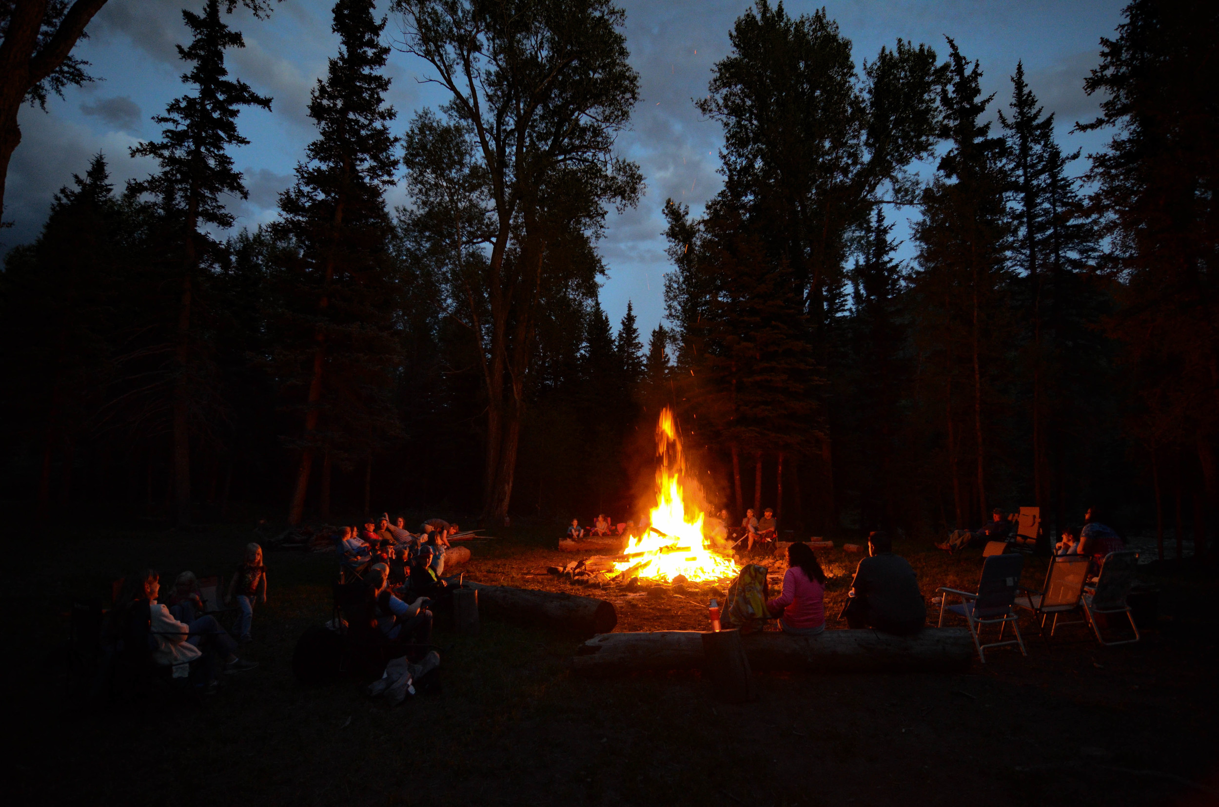 Fellowship around the campfire