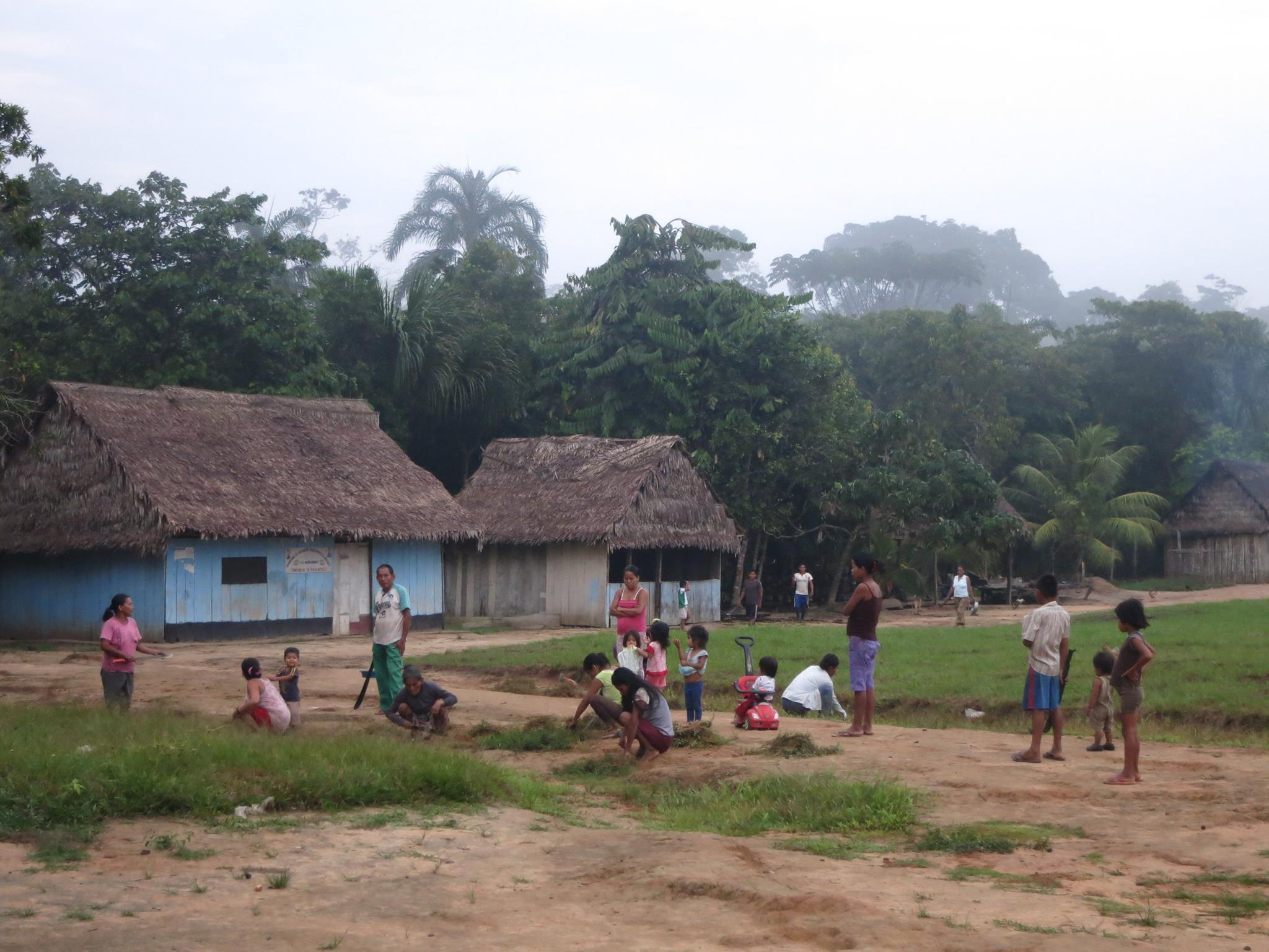 Villagers at work