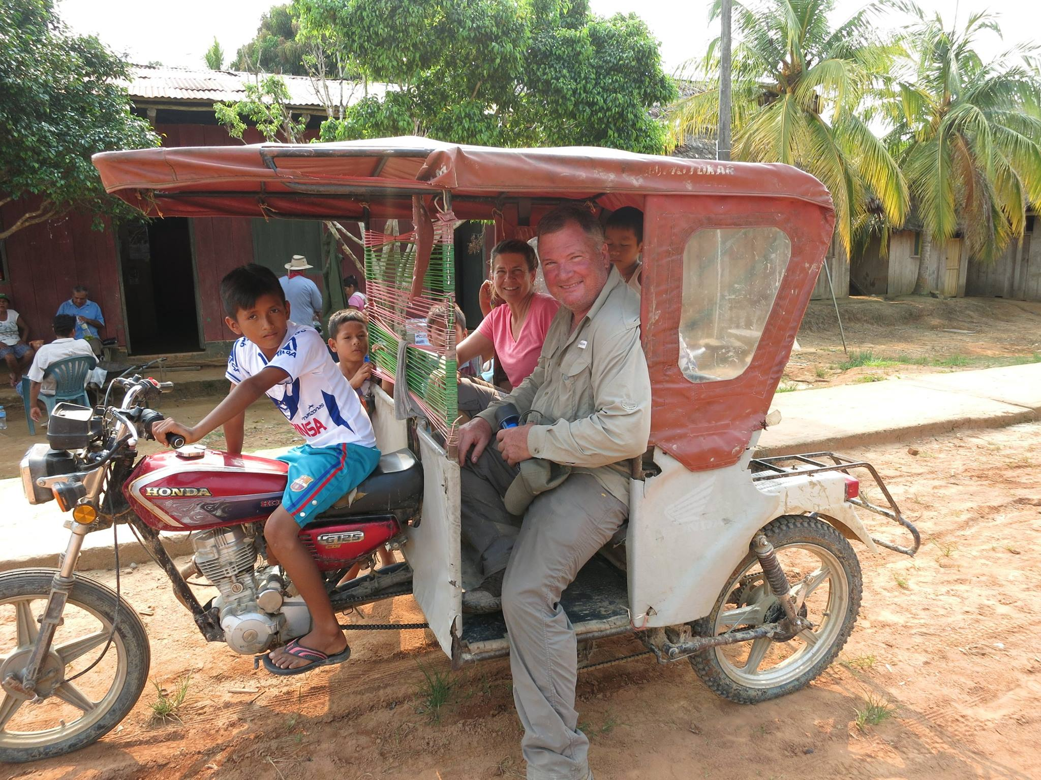 Motor taxi operated by a 12 yr old!