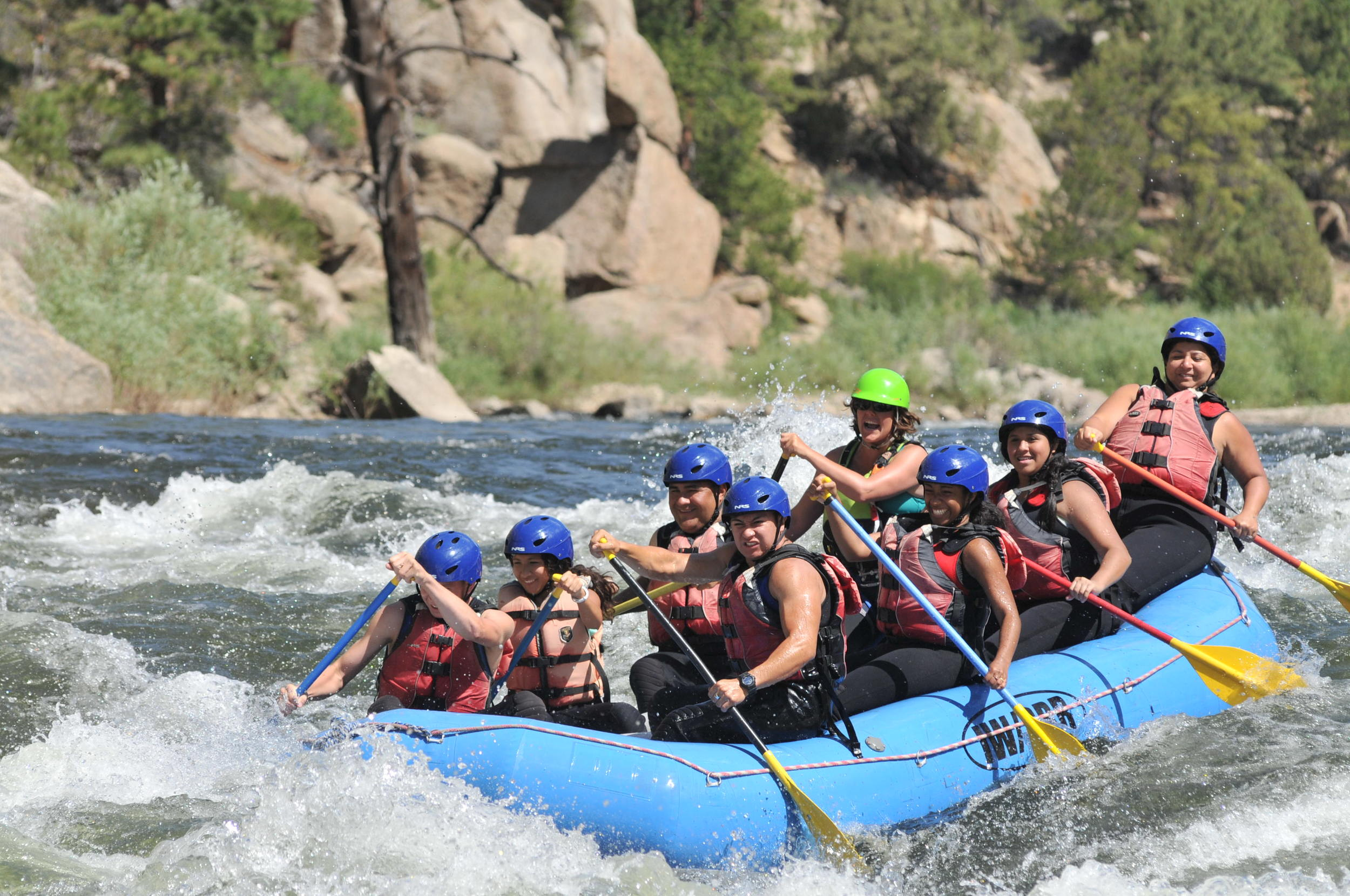 Whitewater rafting, Salida, CO