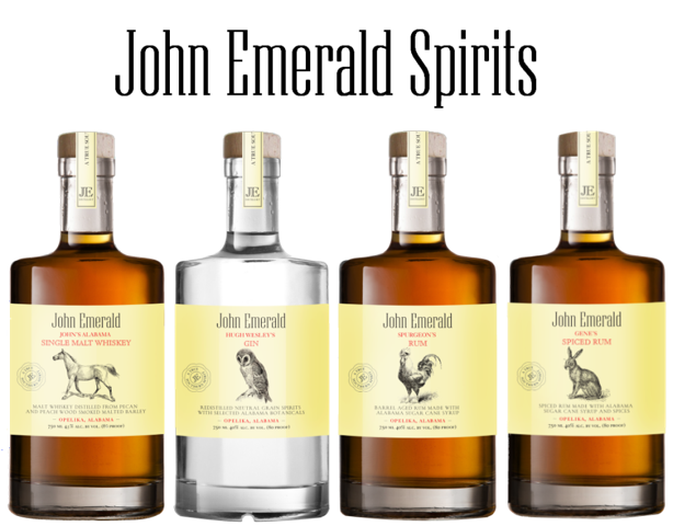 Proudly serving Alabama-made spirits, John Emerald Spirits gives a nice nod to the rick flavors of the state.