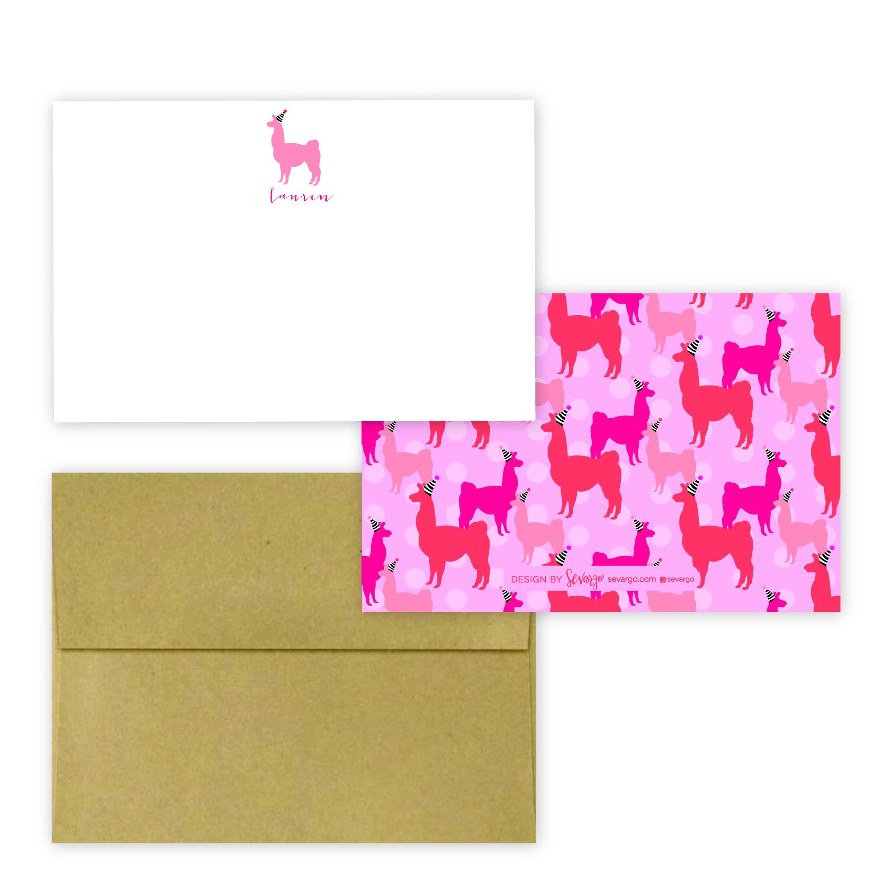 Pink llama stationery-01-01.jpg