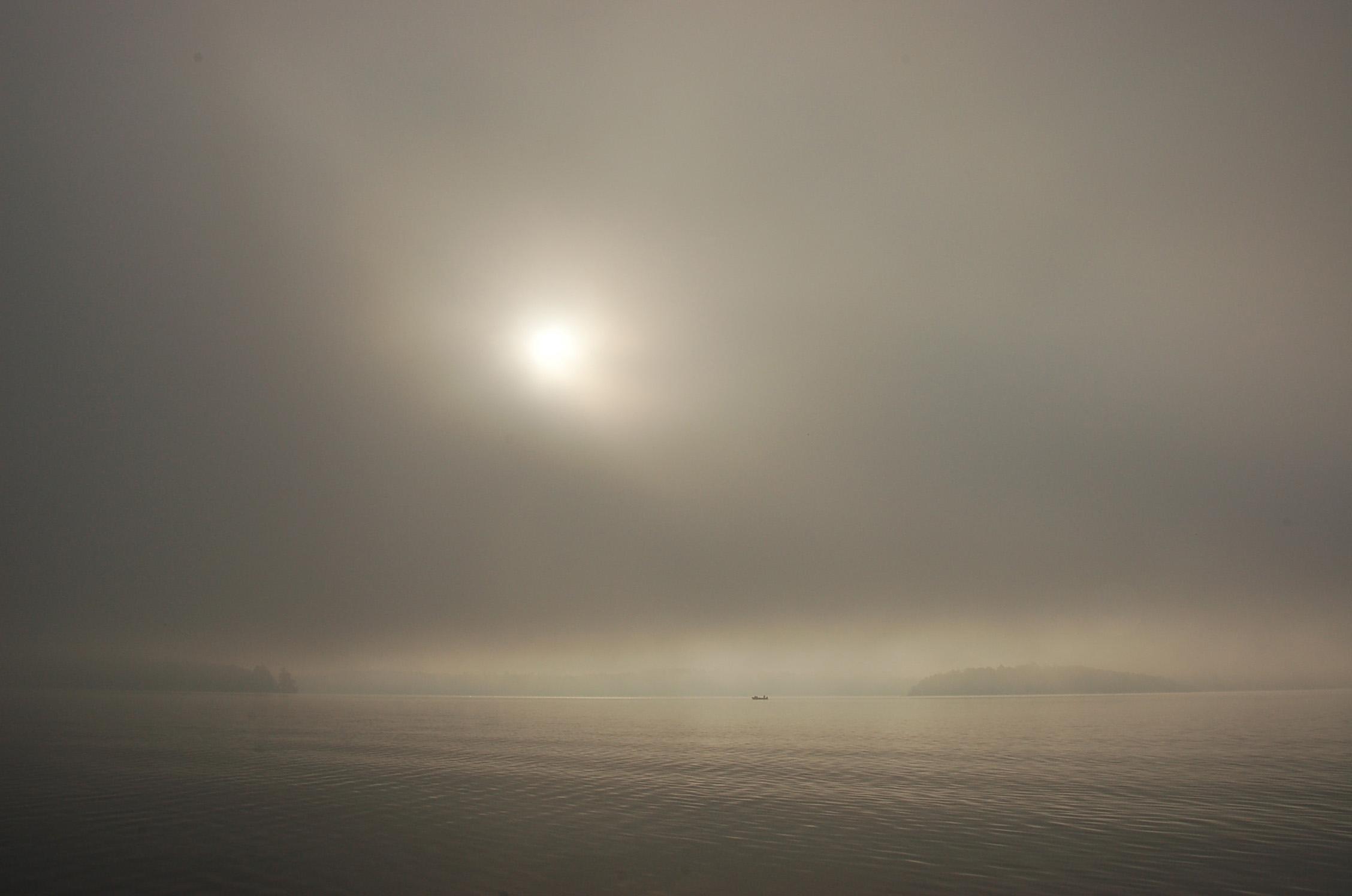 Boat in Sunrise Fog Ely 2007 copy.jpg