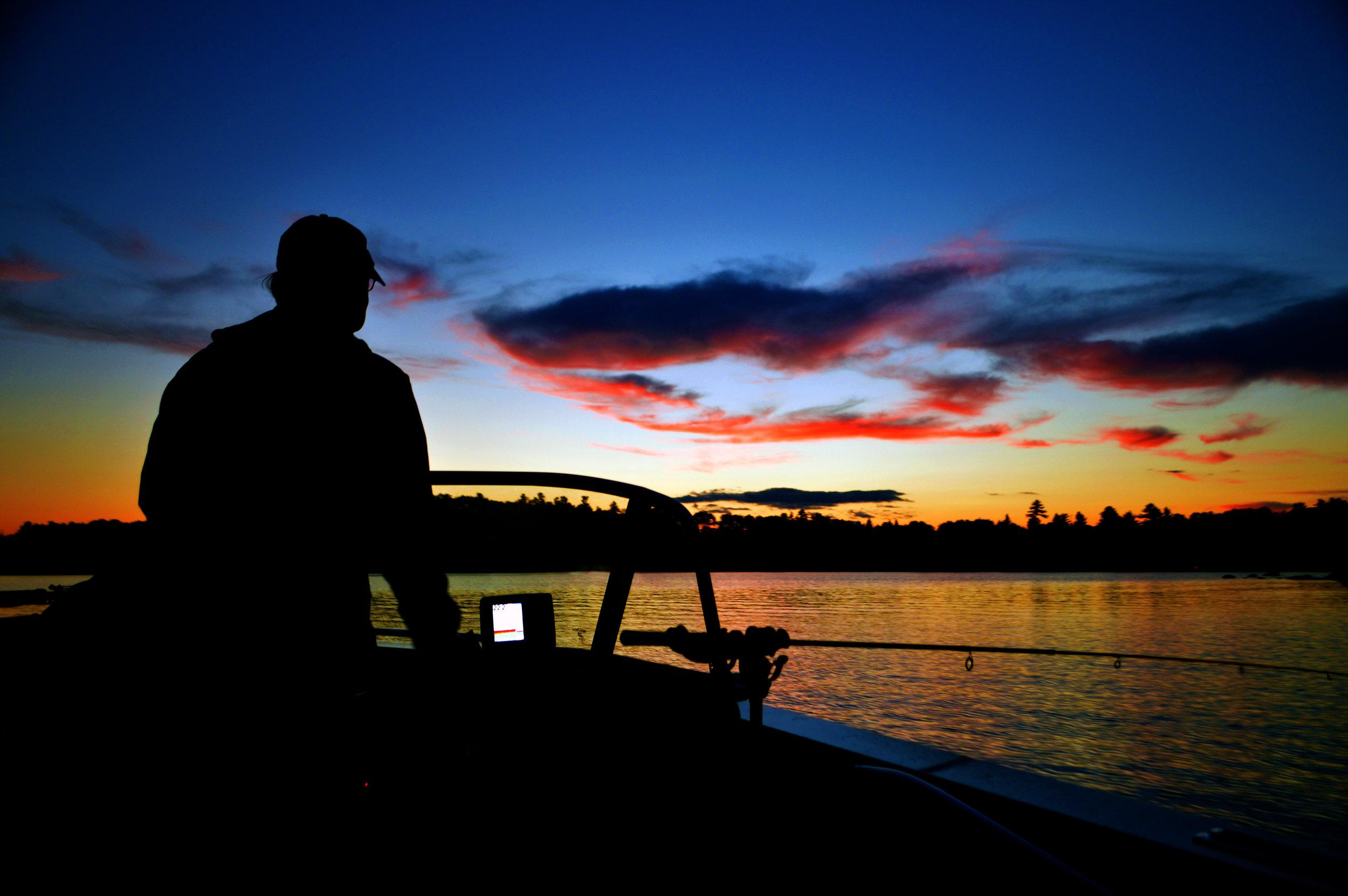 Fishing at Sunset on White Iron Lake.jpg