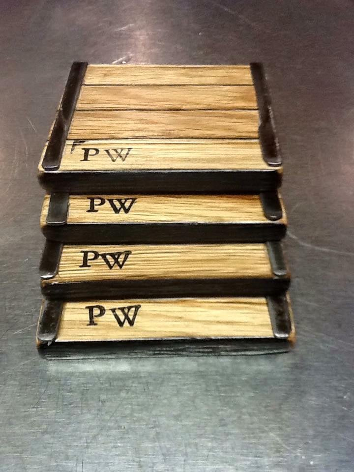 Barrel Stave Coasters