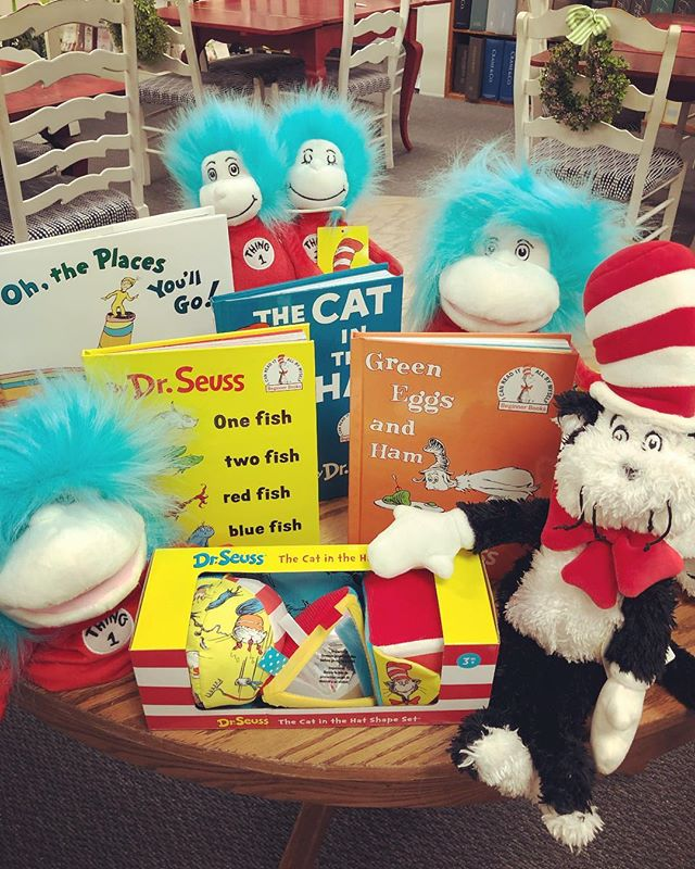 Happy Birthday, Dr. Seuss!!! 🎈🎉📚 It is a great weekend to spend extra time reading. Come see us to get some Seuss classics - we are here until 4:00 p.m.!