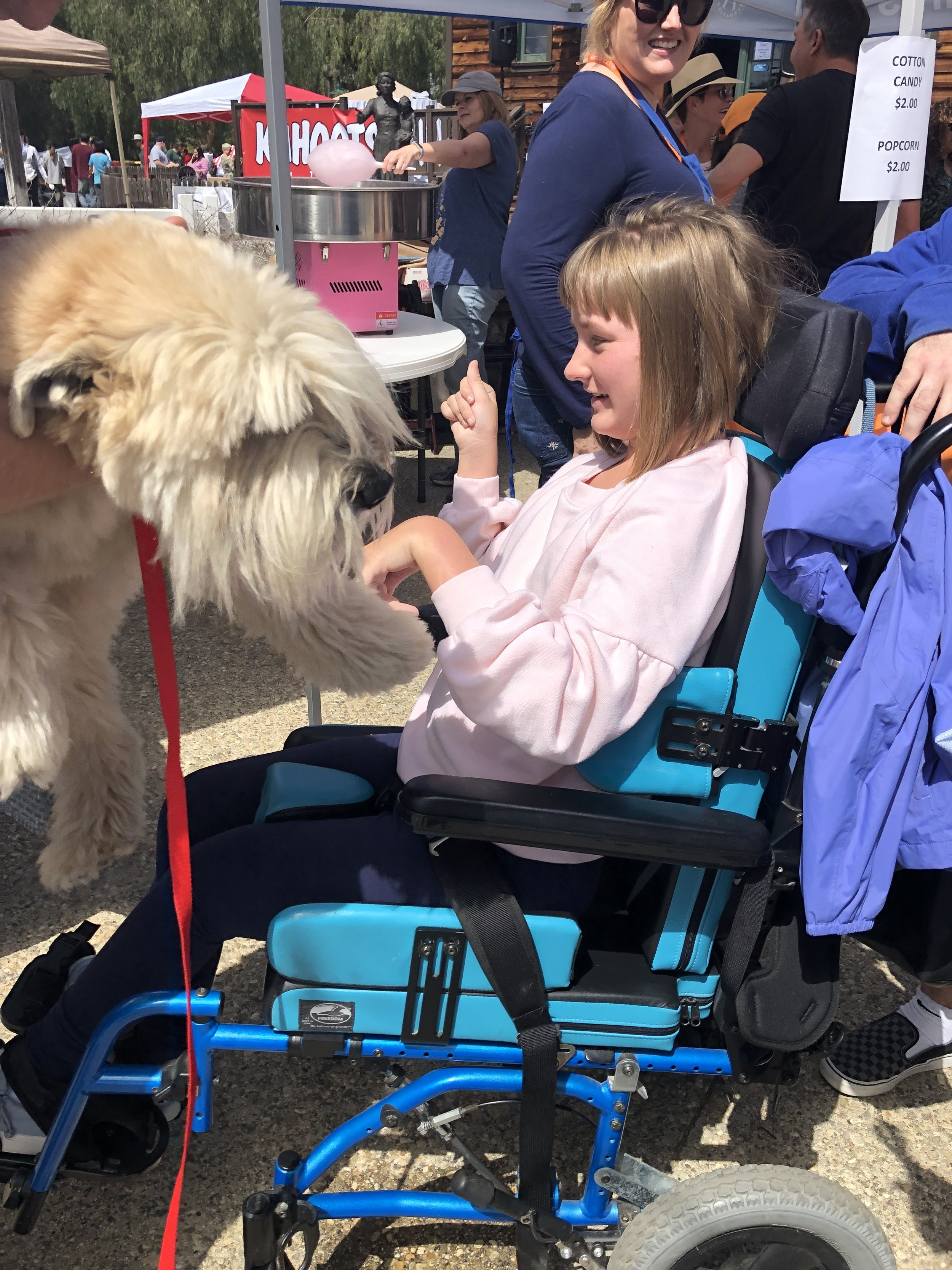 Teddy's outreach at Poway Pets in the Park