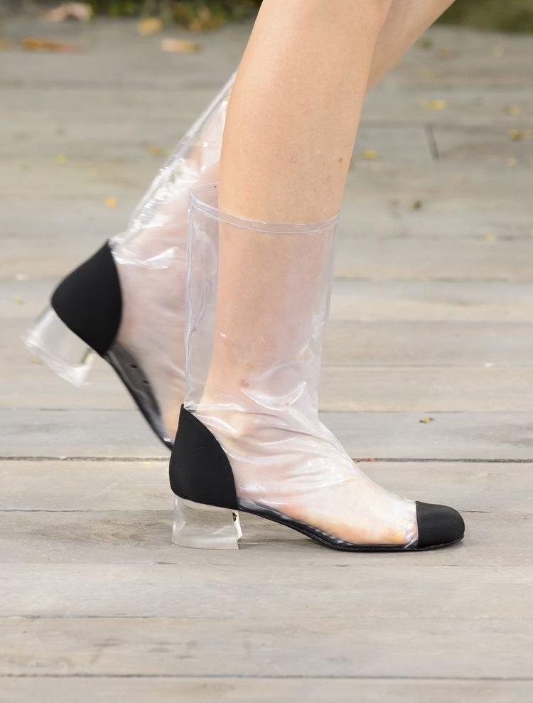 Chanel Rain Boots