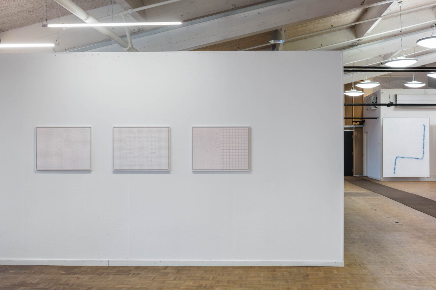 Installation view (pictured with David Ostrowski, far right)