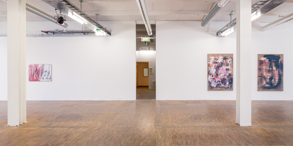 Installation view (pictured with Jana Euler, left)