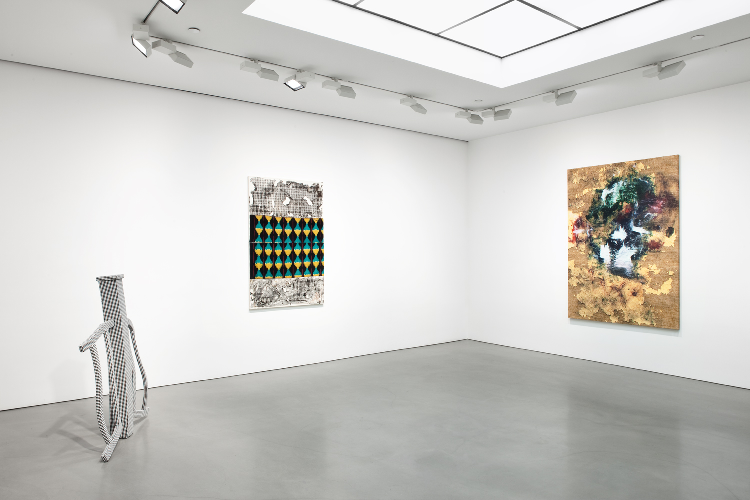 Installation view (pictured with Lucas Knipscher, left)