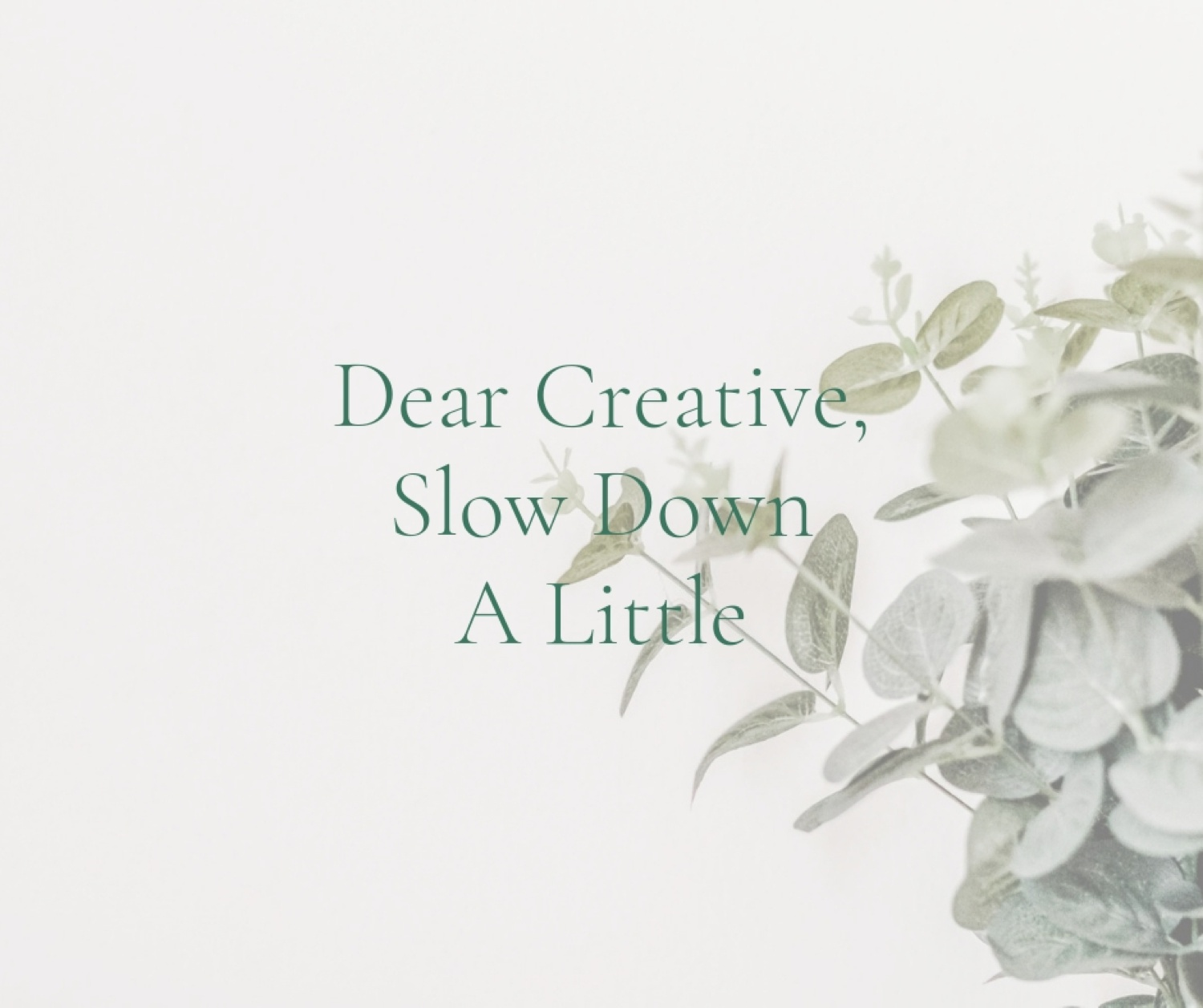 how to slow down in business