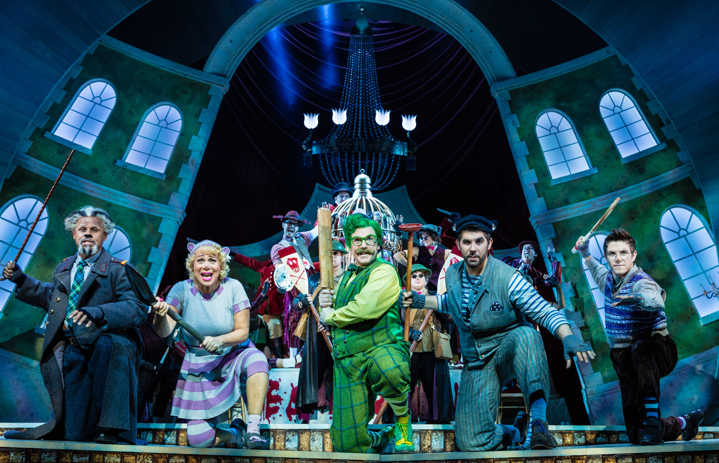 Gary Wilmot, Denise Welch, Rufus Hound, Simon Lipkin, Craig Mather and ensemble.jpg