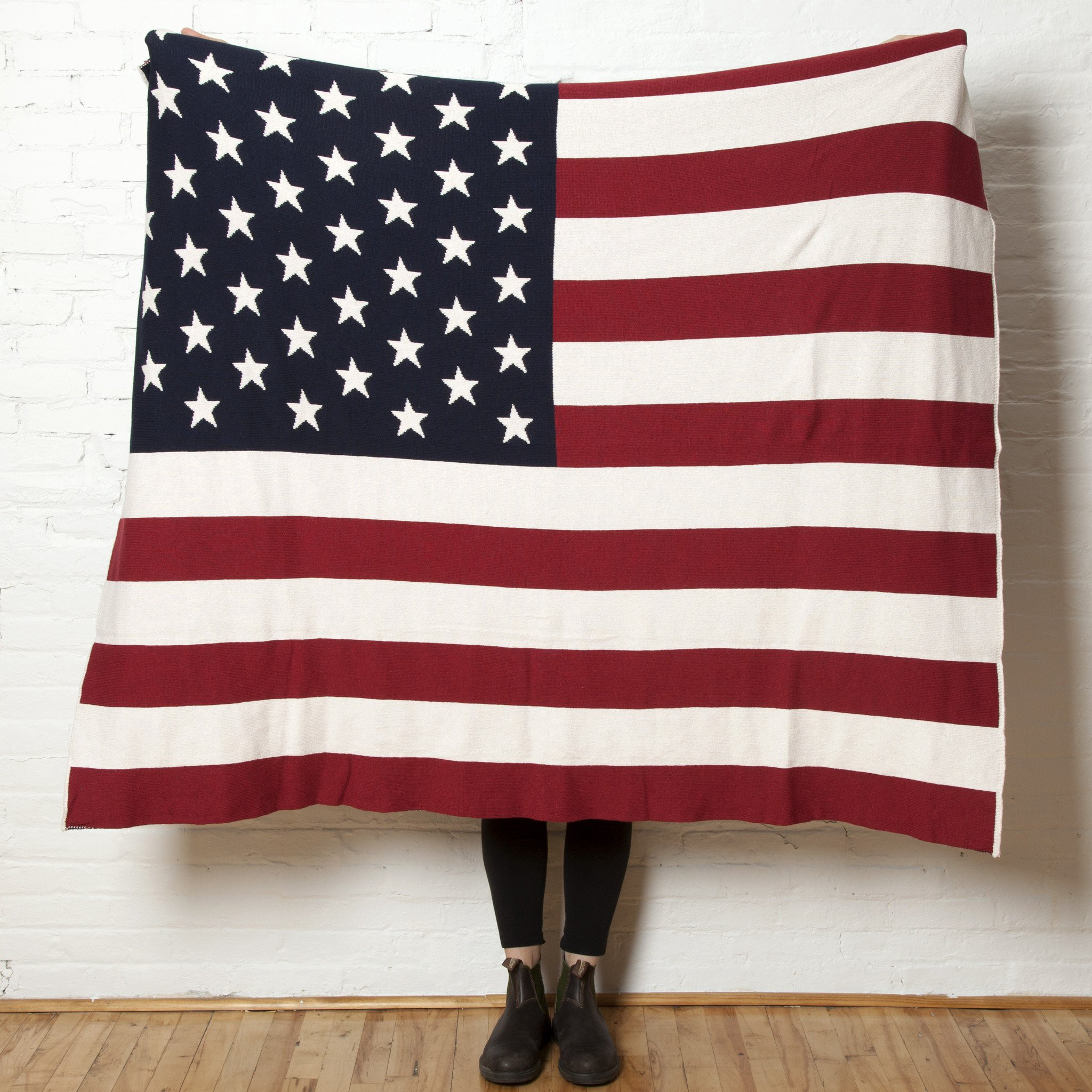 American Flag Throw - $195.00Packed with patriotic pride, this eco-conscious gift celebrates our